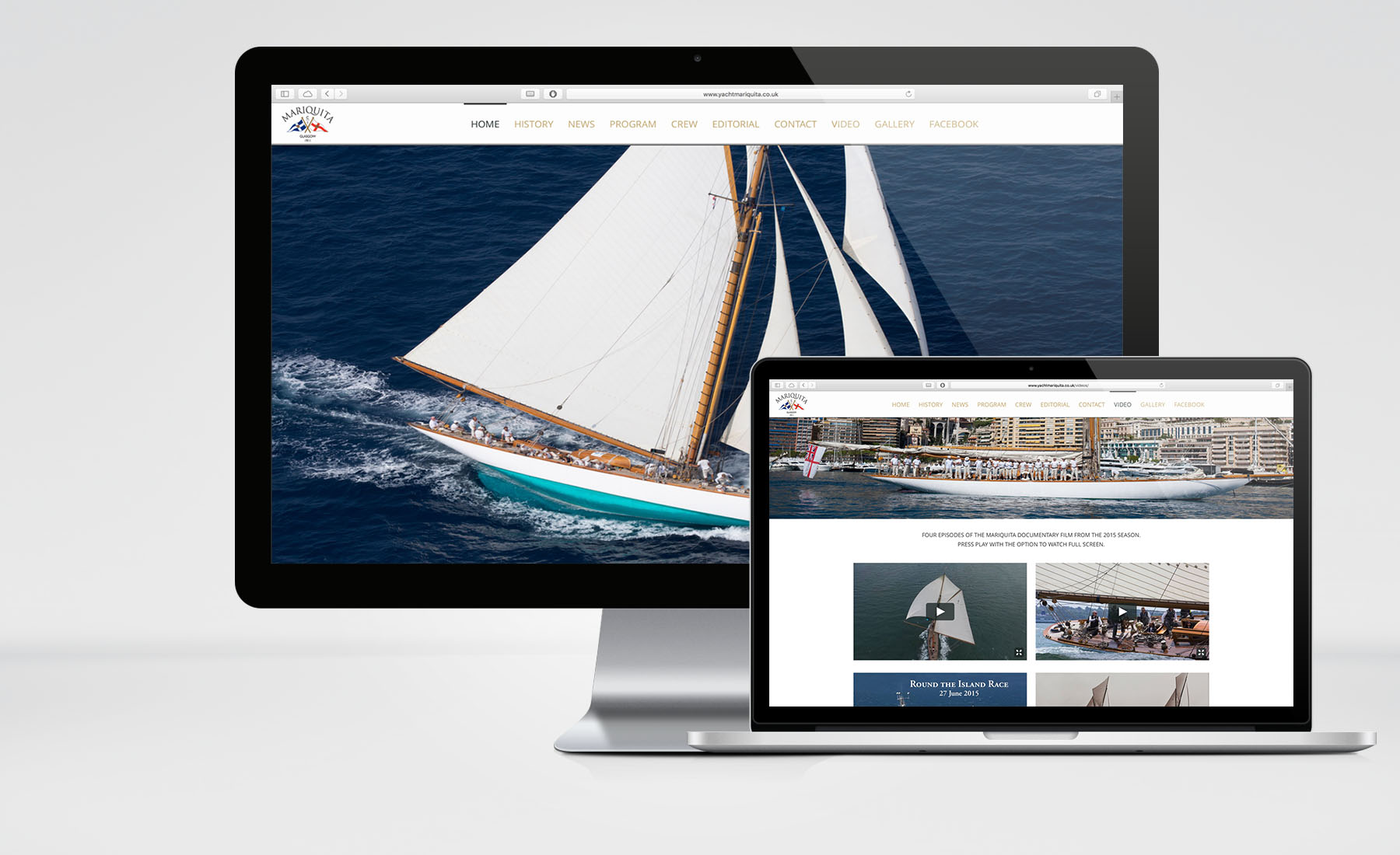 Yacht Mariquita – Website & Film Editing