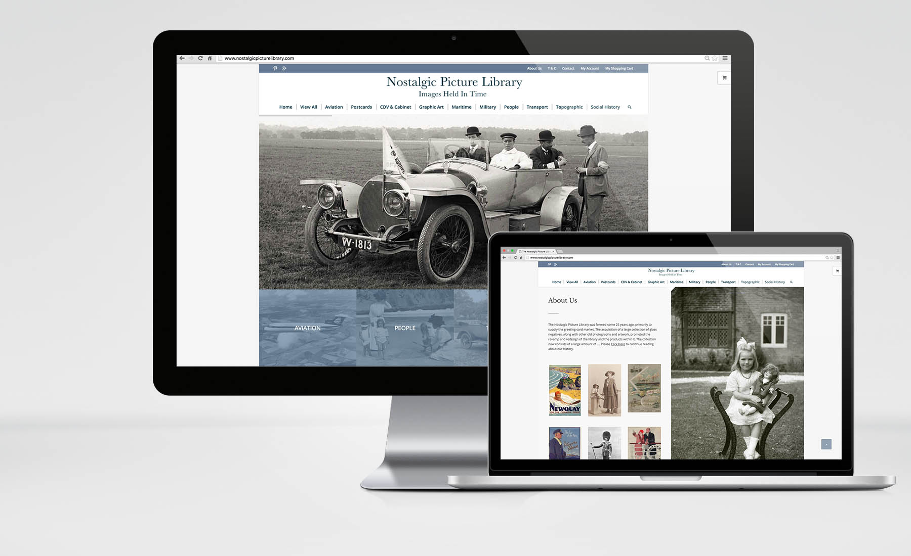 Nostalgic Picture Library – E-Commerce Website