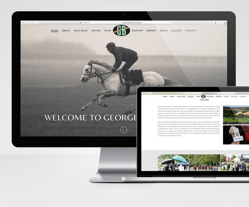 George Baker Racing – Website Design