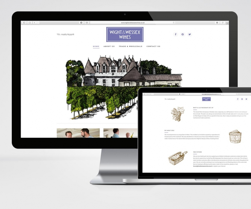 Wight & Wessex Wines – Website & Stock System