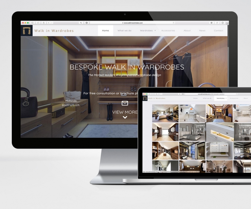 Walk in Wardrobes Ltd – Website & SEO